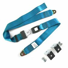 2pt Electric Blue Standard Buckle Lap Seat Belt with Mounting Hardware