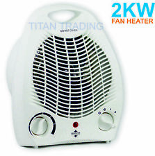 2000 W Fan Heater Thermal Automatic Cut out Adjustable Thermostat 2 Heat Setting