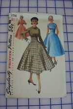 New ListingVintage 1956 Simplicity Sewing Pattern Number 1716 One-Piece Dress and Jacket
