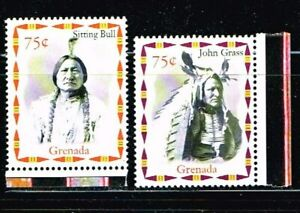 GRENADA / 12 STAMPS AMERICAN INDIAN CHIEFS  MNH     no.2176