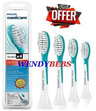 4 PHILIPS STANDARD SONICARE FOR KIDS HX6044 TOOTHBRUSH REPLACEMENT BRUSH HEADS