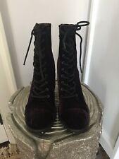 Report Allon Velvet Boots Red Purple, 8