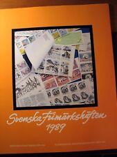 Sweden 1989  Year Stamp Set  Folder with Booklets  MNH  L96