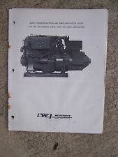 Westerbeke Marine Generator 15KW 20KW 25KW Troubleshooting Guide Manual    U