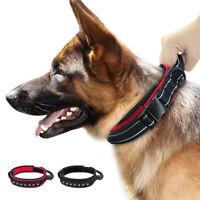 Nylon Taktische Hundehalsband mit Griff Verstellbar Reflektierend Rottweiler SML