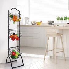 Three-Layer Removable Storage Basket Fruit And Vegetable Display Rack.