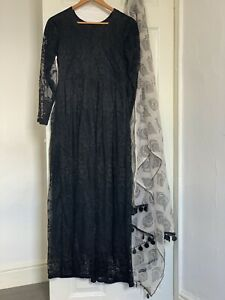 Pakistani Asian Style Girls Long dress Party Wear Outfit Hand Made Ready To Wear