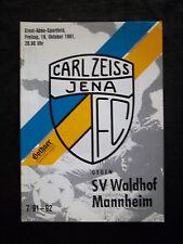 Orig.PRG   2.Bundesliga  1991/92  FC CARL ZEISS JENA - SV WALDHOF MANNHEIM  !!