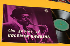 COLEMAN HAWKINS LP THE GENIUS TOP JAZZ ORIG UK 1966 NM ! LAMINATED COVER