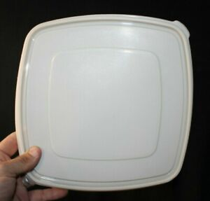 """Beige Rubbermaid Servin Saver #4 Square Storage Container Replacement Lid 10.25"""""""