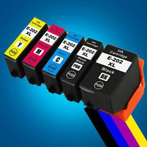 Epson COMPATIBLE NON-OEM 202XL XP-6000 XP-6001 XP-6005 Set of 5 Ink Cartridges