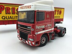 Tekno Prestons Of Potto DAF and Curtainside Trailer. Immaculate and Boxed. 1/50