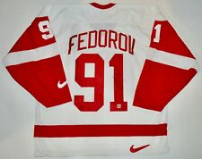 AUTOGRAPHED DPISPORTS SERGEI FEDOROV DETROIT REDWINGS NIKE JERSEY