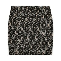 New EXPRESS Womens 6 Black Bonded Lace Mini Skirt Small nwt