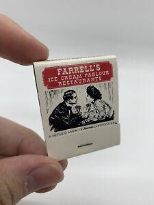 Vintage Farrell's Ice Cream Parlour Restaurant Match Book Cover Unstruck Matches