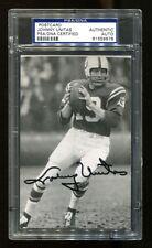 Johnny Unitas Signed Photo Postcard 3.5x5.5 Autographed Colts PSA/DNA 81559678