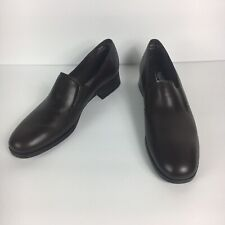 Munro American Womens Brown Leather Comfort Loafers 9.5 SS - AAAA