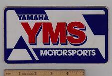 YAMAHA YMS MOTORSPORTS STICKER Decal YZ125 YZ250 FZR400 FZR600 YZF750R FZR750