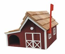 Wooden Mailbox with Paper Holder Side Slot - Amish Made in the Usa