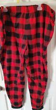 Holiday Time Men's Buffalo plaid red/black fleece Pajama Pants Size 3XL NWOT