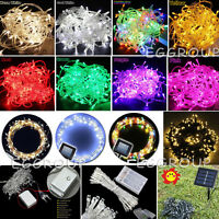 20-100LED Electric/Solar/Battry Powered LED String Fairy Light Xmas Party Garden