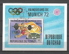 Jeux Olympiques d' été Tchad (54) bloc oblitéré