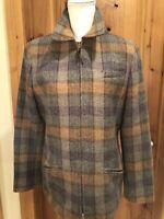 Lauren Ralph Lauren Zip Up 100% Pure Wool Coat size 10 Jacket Women's Suede