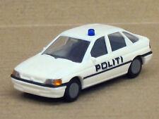 """Ford Escort Polizei in weiß """"Politi"""", ohne OVP, Busch, 1:87"""
