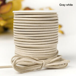 Faux Suede Leather Velvet Cord Ribbon String Rope - 2.6mm 5mm 10mm Widths