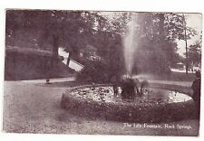 THE LILY FOUNTAIN  ROCK SPRINGS  WEST VIRGINIA 1909 POSTCARD