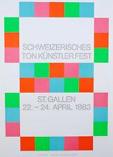 MAX BILL-farblithographie-Ton artisti fisso-St. biliari - 1983