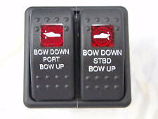 TRIM SWITCH VLD1 ESA TRIM TABS OR ENGINES VME VLD1SOOB CARLING BLACK RED LENS