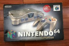 Nintendo 64 Console Gold Limited Edition boxed Japan N64 system US seller