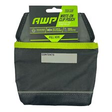 AWP Polyester General Construction organizer Tool Clip Pouch Write On 1341441