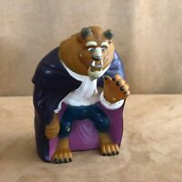 """Vintage Beauty and The Beast Hand Puppet Pizza Hut vintage rubber 7"""""""