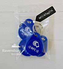 5 NFC-Tag NTAG216-Set als Schlüsselanhänger für alle Smartphones geeignet