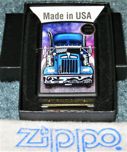 ZIPPO  BLUE TRUCK Lighter BIG RIG Sealed CLASSIC Mint In Box 2020