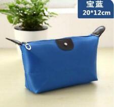 New Women's Makeup Bag canvas Case Pouch Purse Handbag Blue Cosmetic bag