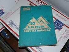 1982 GMC S-15 Pickup Truck Jimmy Factory Service Manual S15 Original Shop Repair