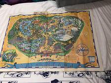 Vintage DISNEY Disneyland POSTER MAP 1966 lg 45x60 Rare!!!