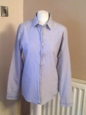 mens river island shirt light blue long sleeves polyester/cotton used