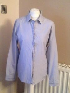 River Island light blue shirt long sleeve size M cotton/polyester mix used