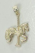 "14K Yellow Gold Carousel Merry Go Round Horse Charm Pendant 1"""