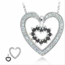 Black Cubic Zirconia Sterling Silver Fine Necklaces & Pendants