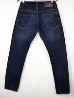 G-Star Raw Herren 3301 Niedrig Konisch Jeans Größe W32 L34 AMZ1353