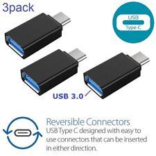x3 (3pack) USB-C Type C 3.1 Male to USB 3.0 Female Converter Adapter OTG black