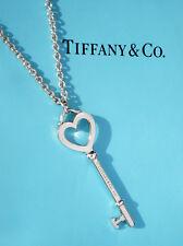 Tiffany & Co Argento Sterling 2 in (ca. 5.08 cm) grande cuore chiave su grandi collana di collegamento