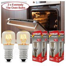2 X Eveready Oven Bulb 15w 300°C Kitchen Appliance Lamp 220-240V SES E14 Pygmy