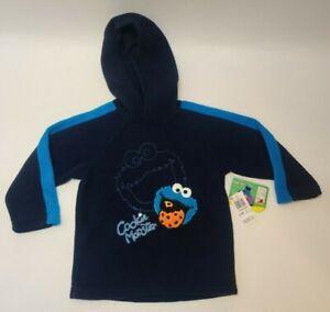 Sesame Street Toddler Fleece Pullover Hoodie Sweater 4T Cookie Monster Boys NWT