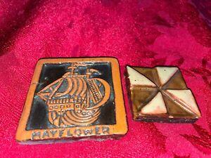Vintage Mercer Moravian tile Mayflower ship Doylestown Bucks County Pennsylvania